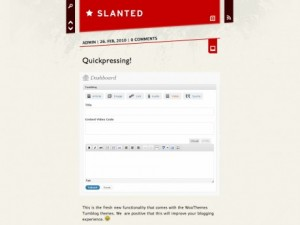Slanted WordPress theme by WooThemes