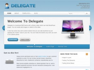 WordPress Delegate theme by WooThemes