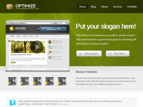 WordPress Optimize theme by WooThemes