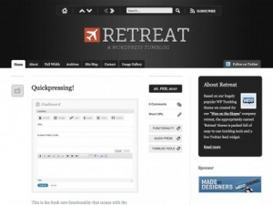Wordpress Retreat theme by WooThemes