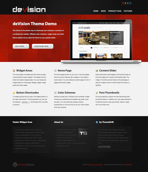 Devision Premium WordPress Theme by ThemeShift