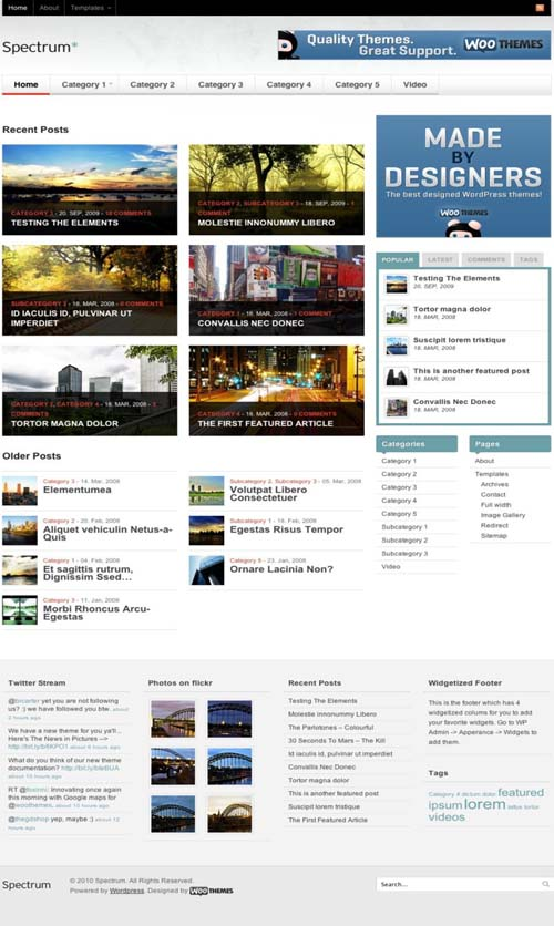 Spectrum WordPress theme by WooThemes