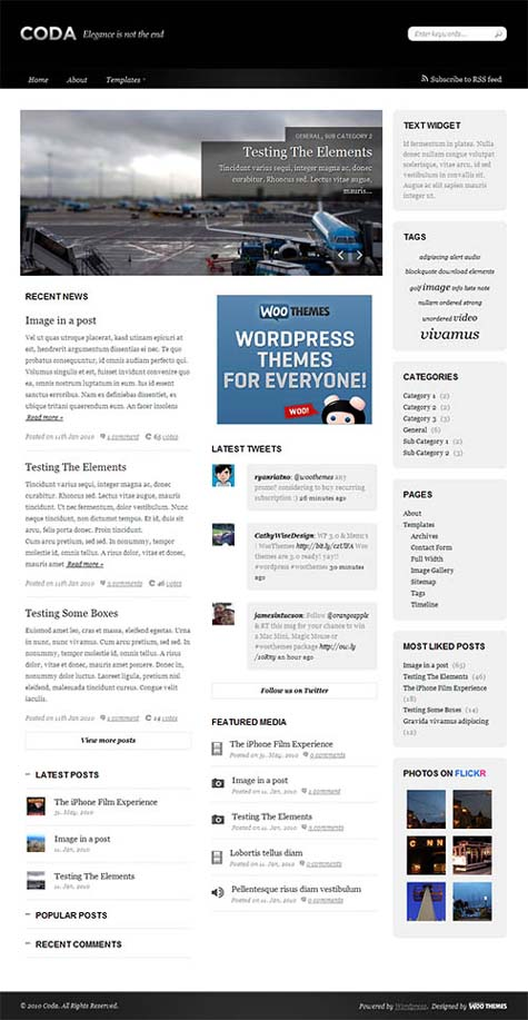Coda WordPress Premium theme