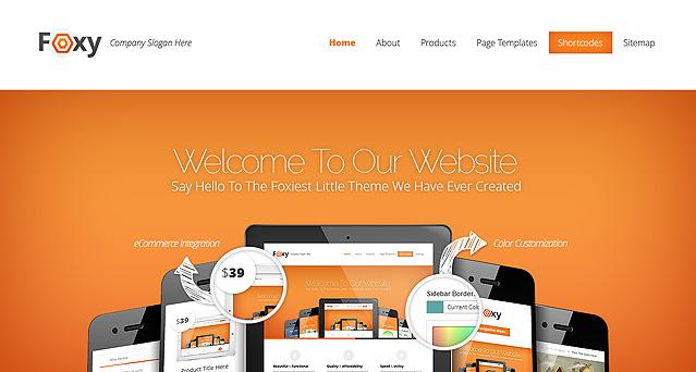 Foxy WordPress Premium theme