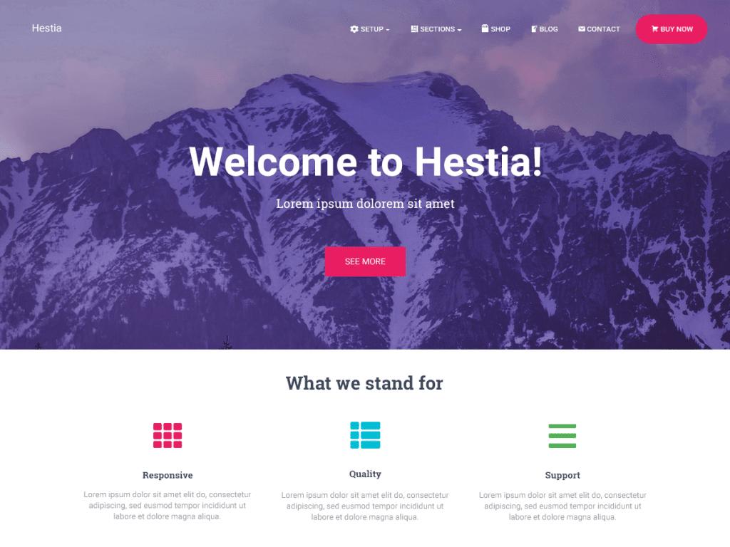 Hestia WordPress Themes